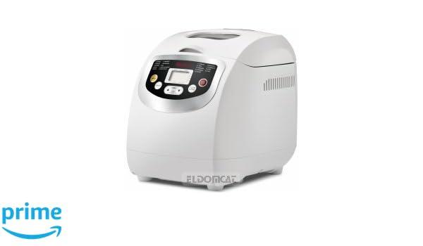 Girmi MP20 600W Blanco - Panificadora (Blanco, 1 kg, Pastel de masa, Masa, Pan francés, Pan sin gluten, Masa para pizza, Pan de trigo, 500 g, 15 h, ...