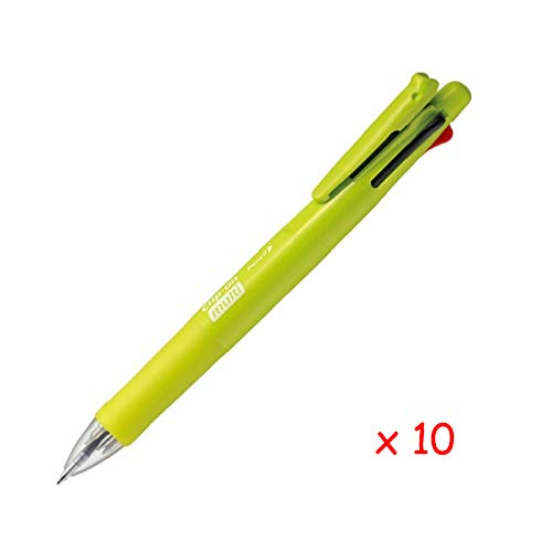 Zebra B4SA1 Clip-on multi F 0.7mm Multifunctional Pen (10pcs) - Light Green (with Free 5-Color Sticky Notes)
