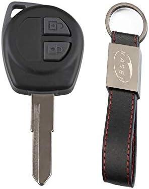 carcasa de llave inteligente para SUZUKI Vitara Swift Ignis SX4 Liana Alto Repuesto de mando a distancia de 2 botones color negro