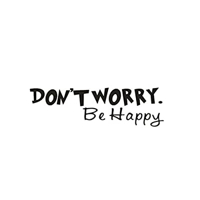 "Mandy Wall Sticker,""Don Not Worry,Be happy"" Art Wall Stickers Vinyl Removable Decals Mural Home Room Decor"