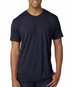 (Next Level 6010 Men's Tri-Blend Crew Tee - Small - Vintage Navy)