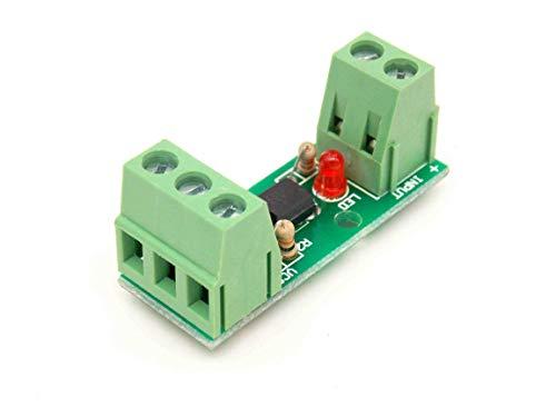 - 12V 1 Channel Optocoupler Isolation Module Isolated Board Rail Holder PLC Processors 80KHz PC817 EL817 Drive Motor Inverter