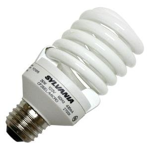 OSRAM Sylvania GIDDS-611105 611105 Dulux El Ecologic Spiral Compact Fluorescent Lamp, Micro-Mini, 26W, 2700K, Medium Base, 120V s