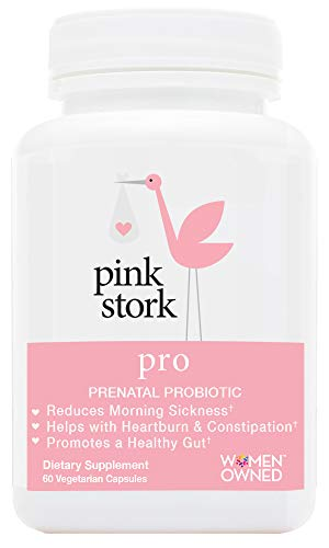 Pink Stork Pro: Pregnancy Probiotic -for Morning Sickness & Gut Health -Developed for Pregnancy -Good Bacteria for Digestive & Immune Health -for Relief from Heartburn, Constipation & More ()