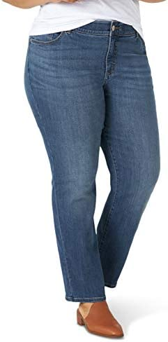 Lee Women's Plus Size Flex Motion Regular Fit Straight Leg Jean