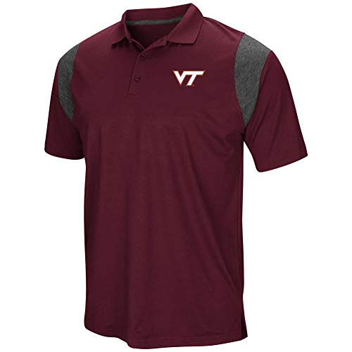 (Colosseum Virginia Tech Hokies Mens Maroon Friend Polo Shirt (Large))