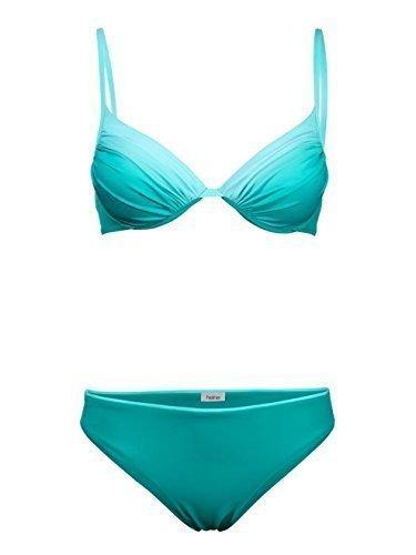 Heine Push-up Bikini Aqua Farbverlauf Gr. 34 Cup C