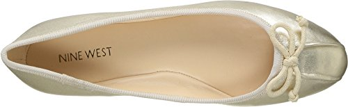 Nine West Damen Batoka Leder Ballett Flat Leichtes Gold / Light Natural Metallic