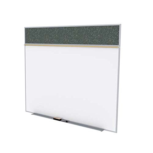 Ghent 5 x 10 Feet Combination Board, Porcelain Magnetic Whiteboard and Recycled Rubber Bulletin Board, Confetti , Made in the USA by Ghent