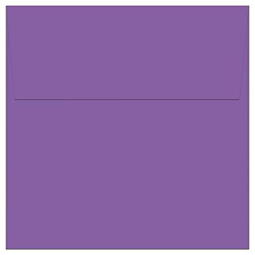 """100 Lilac Purple Square Envelopes - 5.5"""" x 5.5"""" - Square Flap"""