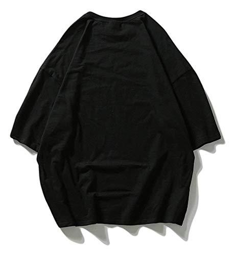 Hop Corta Tifer Gran Camisa De Black Tops Hombre Para 4 Manga Hip Ojal Ropa High Unisex Street Tamaño Verano Con Casual 1wwtqF4n