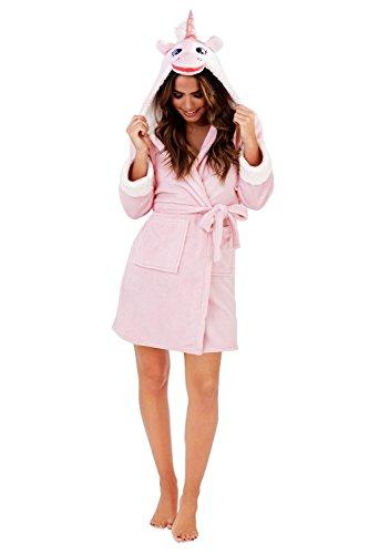 da da CINTURA donna LORA Vestaglia UK Accappatoio Vestaglia Rosa corto da Casa donna in LUSSO 18 Dora pile taglia 8 5gwqg68P
