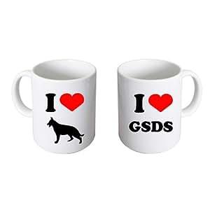 Me encanta pastores alemanes dgt (xcmn009) es taza