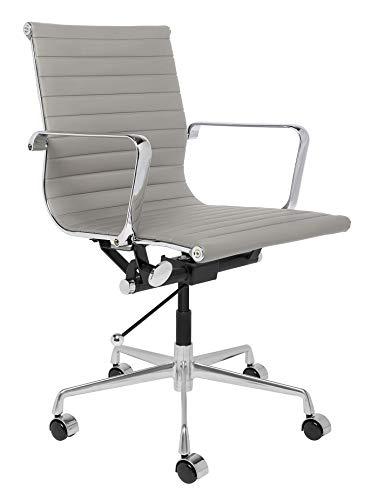Laura Davidson SOHO Ribbed Management Office Chair (Grey)