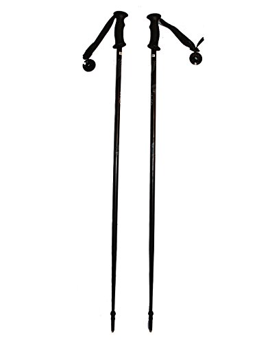 Ski poles adult downhill/alpine Aluminum 7075 strong Ski Poles Pair with baskets Black/Gray New