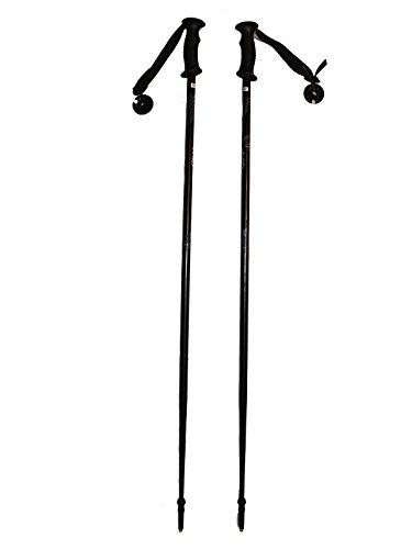 WSD Ski Poles Adult Downhill/Alpine Aluminum 7075 Strong Ski Poles Pair with Baskets Black/Gray New