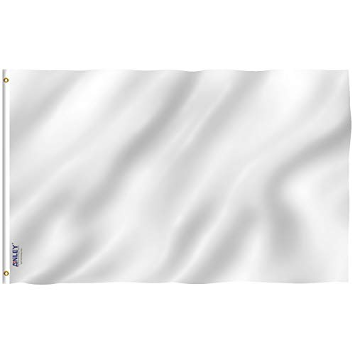 Anley [Fly Breeze 3x5 Foot Solid White Flag - Vivid Color an