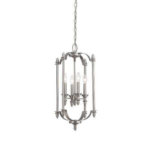 Savoy House 3-4500-4-69 Aldrich 4-Light Foyer Pendant, Pewter Finish - Four Light Pendant Finish