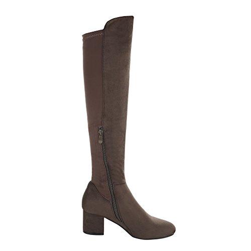 Ital-Design Women's Classic Boot Olive MhZW12haYq