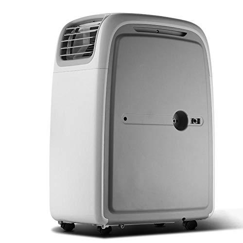 Multifunción: aire acondicionado de enfriamiento portátil con ventilador y función de deshumidificación, incluida la manguera de escape. Función de enfriamiento: la capacidad de súper enfriamiento, con sistema de filtro de aire, puede mejorar la calidad del aire. Función de deshumidificación: se puede usar independientemente de la función de aire acondicionado, lo que le permite extraer el exceso de humedad de la atmósfera todos los días.