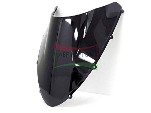 Protek ABS Plastic Injection Black Smoke Double Bubble Transparent Windscreen Windshield for 2007 2008 2009 2010 2011 2012 2013 Ducati 848 EVO 1098 1198 S R SP RTB ()