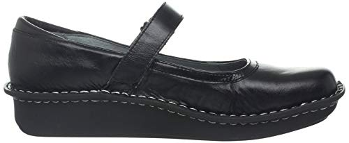 Pictures of Alegria Women's Belle Mary Jane Flat Black Crinkle 35 M EU 3