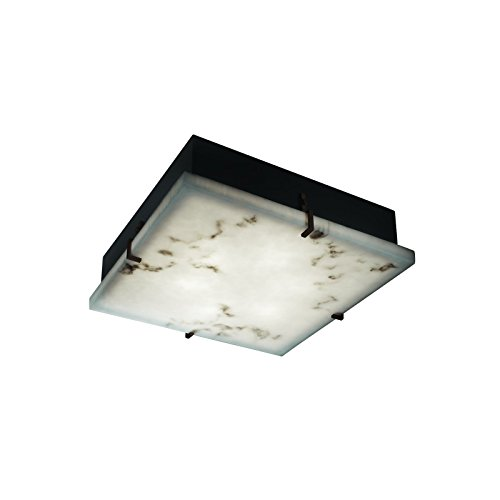 Justice Design Group Lighting FAL-5555-CROM Clips 12-Inch Square Flush-Mount