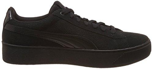 black Platform Noir Femme Baskets Basses Puma Vikky black B5CXqwnYH