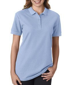 (Gildan 82800L Premium Cotton Ladies Polo - Light Blue - XL )