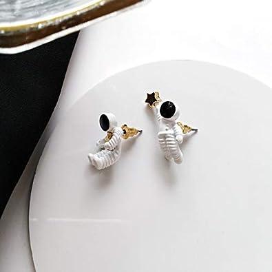 Stud J Meng Astronaut Stud Earrings Ear Clip Space Universe Earrings for Girl Women Men