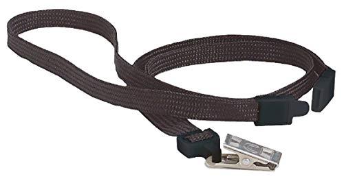 Swingline GBC ID Lanyard, Breakaway Lanyard with Bulldog Clip, BadgeMates, Black, 10 Pack (3747551)