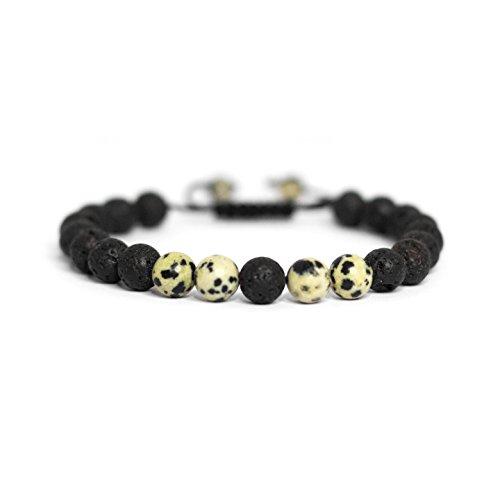 Vitality Extracts - Loyalty Adjustable Diffuser Bracelet - Dalmatian Jasper, meditation, devotion, purpose, trust, aromatherapy