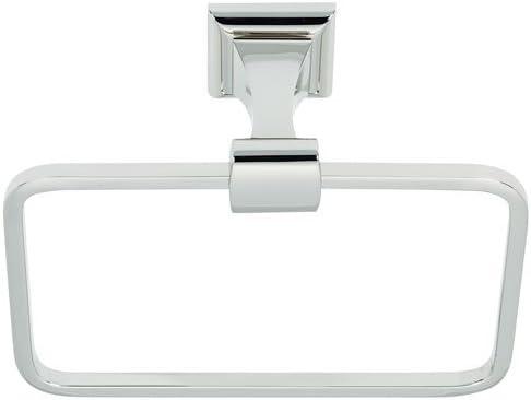 Amazon Com Manhattan Wall Mounted Towel Ring Finish Polished Chrome Alno Inc Kitchen Dining