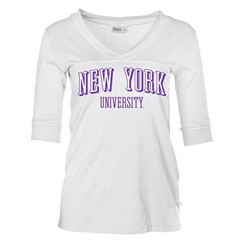 Official NCAA NYU Violets - Women's 3/4 Sleeve Football V-Neck ()