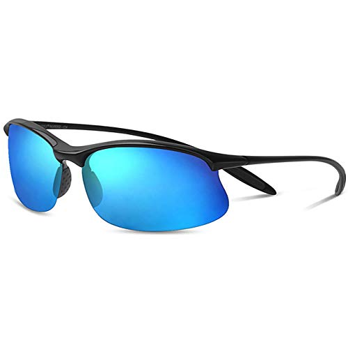 e816f6348f JULI Polarized Sports Sunglasses for Men Women Tr90 Unbreakable Frame for  Running Fishing Baseball Driving MJ8002