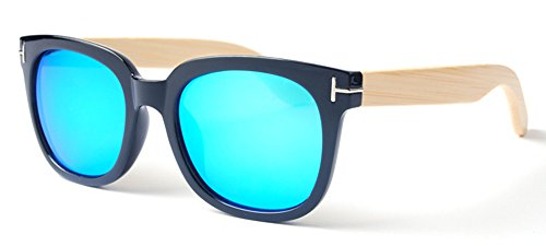 de 2015 Woman Bamboo 1209 de Vintage New Gafas 5 Fashion Eyewear Brand Azul Rapid Wayfarer casuales los Style Man sol K SEvvxqdX