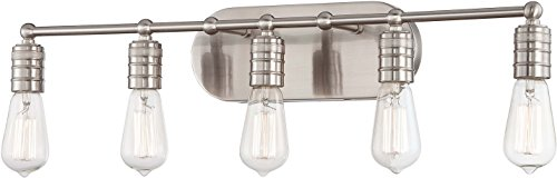Minka Lavery 5136-84 Downtown Edison 5 Light Vanity Lighting, Brushed Nickel Finish - Minka Lavery Vanity Lighting