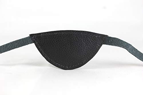 leather Eyepatch. Slim Black Eye Patch by La La Lash (Image #6)
