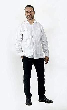 Camisa Guayabera Blanca (XXL): Amazon.es: Ropa y accesorios