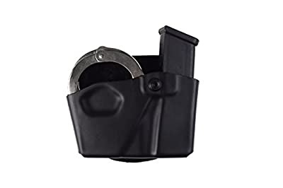 Safariland 573 Glock 17 22 Open Top Paddle Magazine Pouch with Handcuff Case