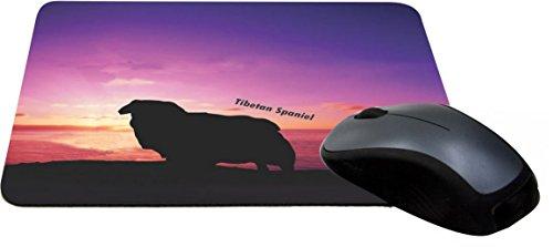 Rikki Knight Tibetan Spaniel Dog at Sunset Design Lightning Series Gaming Mouse Pad (MPSQ-RK-41281)