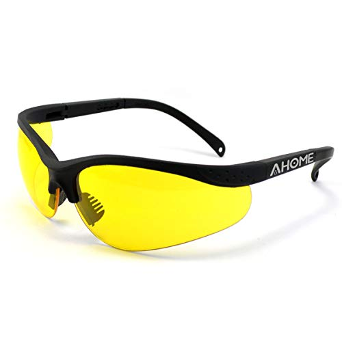 AHOME UV Ray Protection Night Vision Improvement Adjustable Safety Glasses