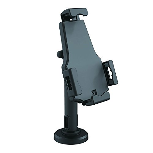 Pyle PSPADLK8 Universal Tamper-Proof Anti-Theft iPad Tablet Kiosk Stand Holder for Public Display with Cable Management, Fits Virtually All 8-10-Inch Tablets, Swivel, Rotation and Tilt Adjustable and Included Wall Mount (Pyle 10 Inch)