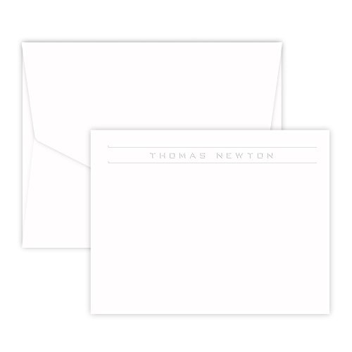 Personalized Corridor Card - Embossed (White) (Embossed Flat Card)