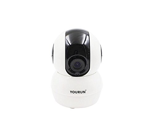 YOURUN Smart WiFi IP Camera,720p HD Night Vision,IOS/Android App Cloud Service,3G/GPRS,360-Degree Surveillance,Remote Monitor, White For Sale