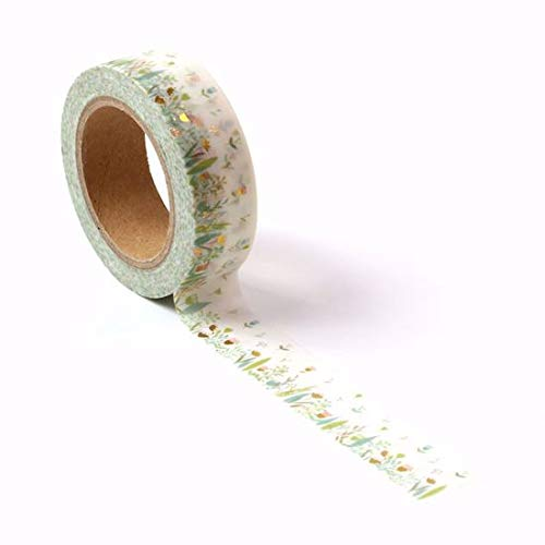 Wild Flower and Gold Foil Washi Tape for Planning • Scrapbooking • Arts Crafts • Office • Party Supplies • Gift Wrapping • Colorful Decorative • Masking Tapes • DIY from MERYKEEM