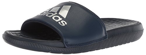 adidas Performance  Men's Voloomix Slide Sandal, Collegiate Navy/Silver Metallic/Collegiate Navy, 11 M US