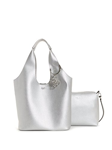 GUESS Flora Large Metallic Hobo Bag