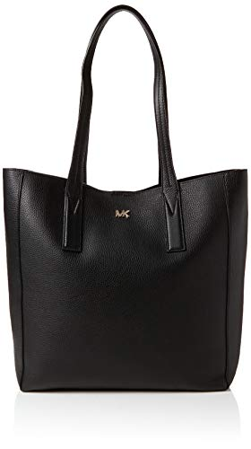 Michael Kors Junie Large Pebbled Leather Tote, Women's Black, 12.7x34.2x48.2 cm (B x H T)