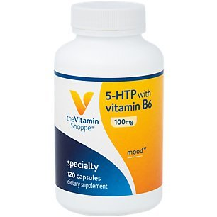 (The Vitamin Shoppe 5HTP with B6 100 MG (5Hydroxytryptophan) Provides Mood Sleep Support, Once Daily (120 Capsules))